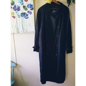 London Fog Black Trench Coat